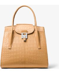 Michael Kors - Bancroft Large Alligator Satchel - Lyst