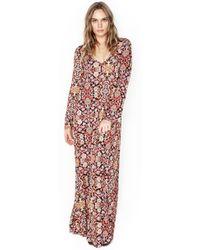 8ec343fe2841 Michael Lauren - Bliss L/s V-neck Maxi Dress - Lyst