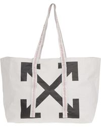 Off-White c/o Virgil Abloh - White New Commercial Handbag In Polyethylene With Black Arrows Printed On The Front. - Lyst