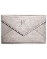 MILLY - Leather Correspondence Envelope - Lyst
