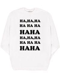 MILLY - Ha Ha Ha Oversized Sweatshirt - Lyst