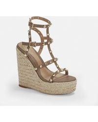 Missguided Taupe Dome Stud Wedges - Multicolour
