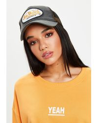 Missguided - Von Dutch Grey Mesh Baseball Cap - Lyst