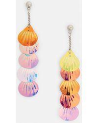 Missguided - Pink Multi Shell Drop Earrings - Lyst