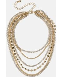Missguided - Gold Look Crystal Anklet - Lyst