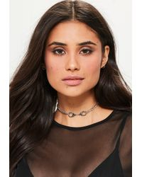 Missguided - Silver Handcuff Choker Necklace - Lyst