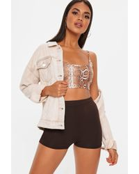 Missguided - Chocolate Cycling Shorts - Lyst