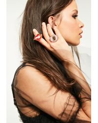 Missguided - Gold Can You Not Ring Set - Lyst