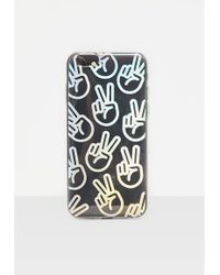 Missguided - Clear Holographic Peace I Phone 6 Case - Lyst