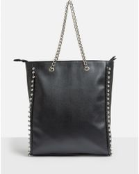Missguided - Black Beaded Chain Shopper Bag - Lyst