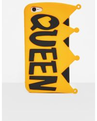 Missguided - Yellow Silicone Queen Crown I Phone 6 Case - Lyst
