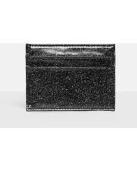 Missguided - Black Glitter Card Holder - Lyst