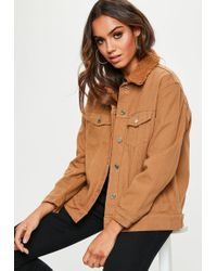 72a6f6ead Missguided Longline Blazer Camel in Natural - Lyst