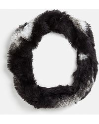 Missguided - Black Faux Fur Snood - Lyst