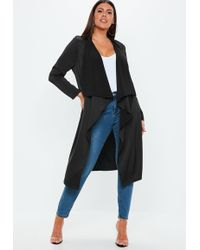 Missguided - Plus Size Black Waterfall Jacket - Lyst