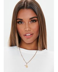 Missguided - Playboy X Gold Bunny Necklace - Lyst