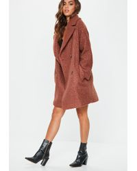ee7cf86de6b Lyst - Missguided Plus Size Camel Oversized Waterfall Duster Coat in ...