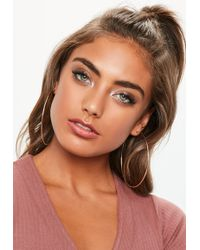 Missguided - Gold Large Hoop Earrings - Lyst