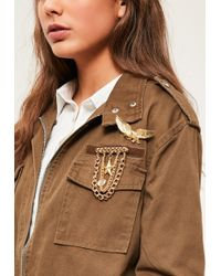 Missguided - Gold Western Pin Badge Set - Lyst