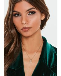 Missguided - Gold Look L Initial Necklace - Lyst