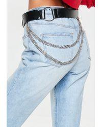 Missguided - Black Chain Detail Belt - Lyst