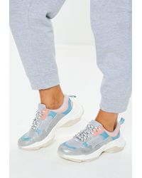 Missguided - Grey Minimal Upper Chunky Trainer - Lyst