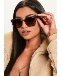 73c247e2e6289 Missguided - Quay Australia X Jaclyn Hill Upgrade Brown Gold Sunglasses -  Lyst