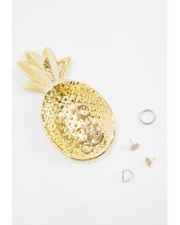 Missguided - Gold Pineapple Trinket Dish - Lyst
