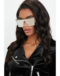 Missguided - Quay Australia Hindsight Gold Sunglasses - Lyst