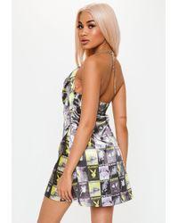 98dd4c7910e Missguided - Playboy X Black Magazine Print Cowl Front Mini Dress - Lyst