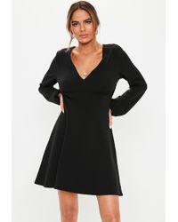 4e22dcea5764b Missguided Plus Size Jersey T-shirt Skater Dress Black in Black - Lyst