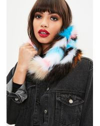 Missguided - Colourful Faux Fur Snug - Lyst