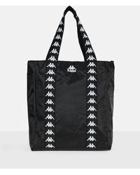 Missguided - Kappa Black Slogan Shopper Bag - Lyst