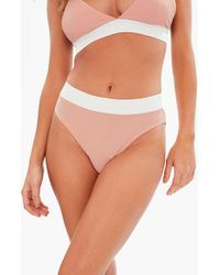 Missguided - Nude Jersey High Waisted Brief - Lyst