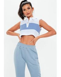 e10c2968215778 Missguided Halterneck Backless Crop Top Lilac in Purple - Lyst