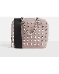 Missguided - Pink Studded Chain Cross Body Bag - Lyst