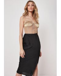 Missguided Nude Cupped Bodysuit