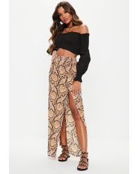 Missguided - Black Paisley Maxi Skirt - Lyst