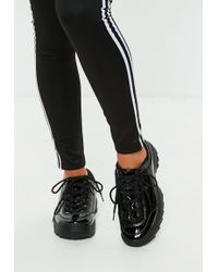 Missguided - Black Patent Chunky Trainers - Lyst
