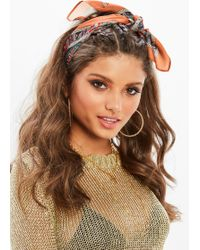 Missguided - Brown Printed Scarf - Lyst