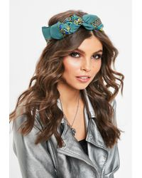 Missguided - Blue Chain Print Scarf - Lyst
