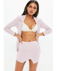 Missguided - Lilac Cross Front Skort - Lyst