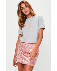 Missguided - Barbie X Grey Short Sleeve 'city' T Shirt - Lyst
