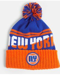 Missguided - Orange New York Colour Block Bobble Hat - Lyst