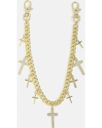 Missguided - Gold Cross Wallet Chain - Lyst