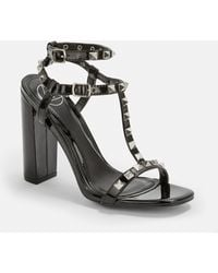 e00aad7d7e3 Lyst - Missguided Block Heel Gladiator Sandals Black in Black