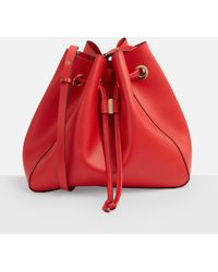 Missguided - Red Drawstring Shopper Bag - Lyst