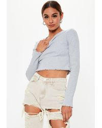 Urban Outfitters Uo Damson Baby Rib Deep Plunge Top - Womens L in ... ac19919de