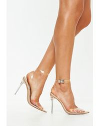 9d6839391a8 Missguided Pointed Stiletto Court Shoes Nude in Natural - Lyst