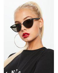 Missguided - Quay Australia Black Rumours Sunglasses - Lyst